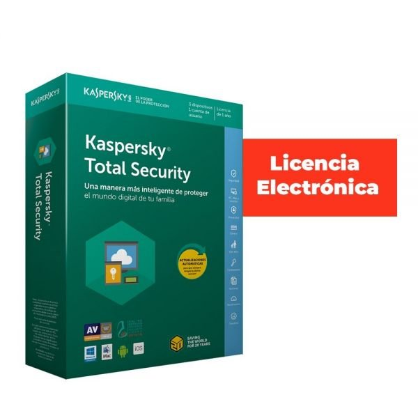 ANTIVIRUS ESD KASPERSKY 5 US TOTAL SECUR LIC ELECT