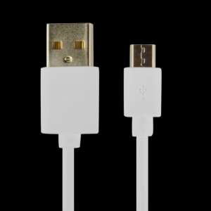 CABLE POWER2GO USB-A A MICRO-USB 1M BLANCO PACK 5