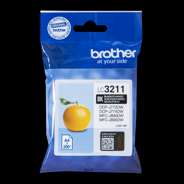 CARTUCHO BROTHER LC3211BK 200PG NEGRO