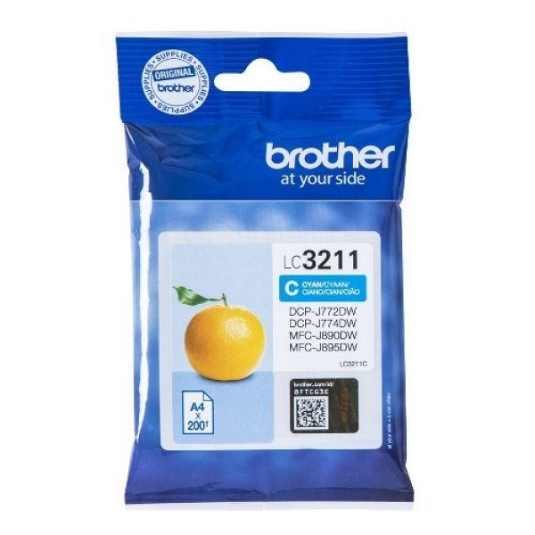 CARTUCHO BROTHER LC3211C 200PG CIAN