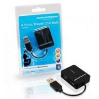 HUB USB 2.0 MINI CONCEPTRONIC 4 PUERTOS