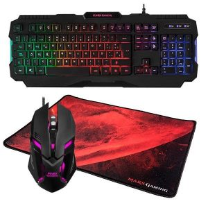 KIT TECLADO RATON Y ALFOMBRILLA MARS GAMING [10]